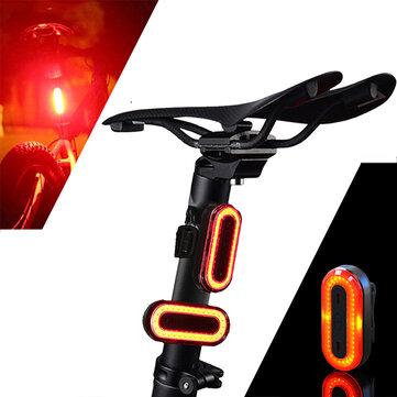 XANES STL03 100 एलएम आईपीएक्स 8 मेमोरी मोड साइकिल टेललाइट 6 मोड चेतावनी एलईडी यूएसबी चार्जिंग 360 डिग्री रोटे