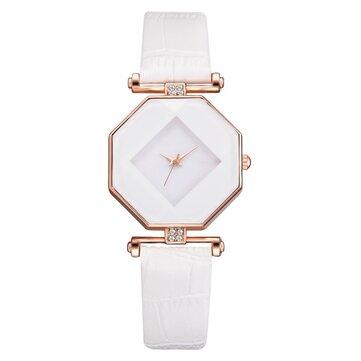 Fahion Diamond Mirror Watch Ladies Dress Ultra-sottile orologio da donna in pelle al quarzo