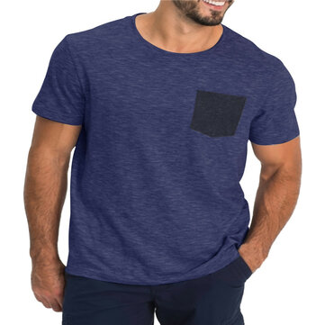 Men's Nondeformable Soft Quick-Dry Short Sleeve T-Shirts Causal Working Sports T-Shirts