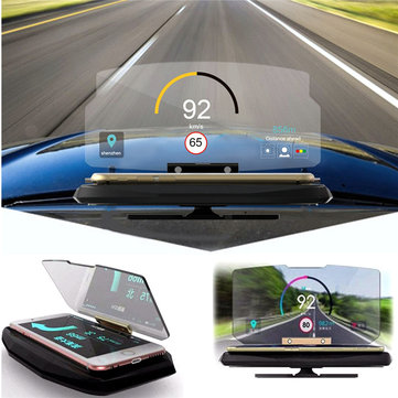 Universal HUD Head Up Display Car Cell Phone GPS Navigation Image Reflector Holder Stand for iPhone