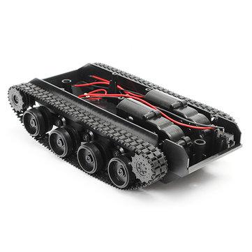 3V-7V Cahaya Syok Diserap Cerdas Robot Tank Chassis Mobil DIY Kit Dengan 130 Motor Untuk Arduino SCM