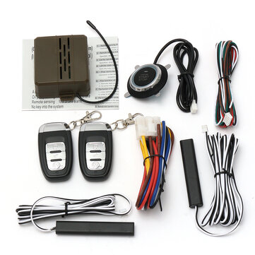 Universal Car PKE Keyless Entry System Engine Push Start Button Remote Control Alarm System