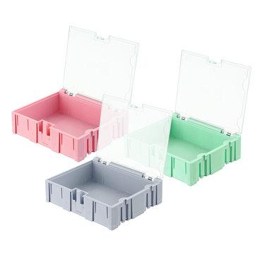 NO.3 Pequeño Splicable herramienta Caja Tornillo Objeto Proyecto electrónico Componentes de almacenamiento de piezas Caja Caso SMT SMD Pops Up Patch Container