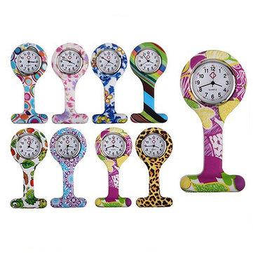 ファッショナブルなシリコーン看護師の腕時計ステンレスダイヤルチュニックフォブポケットレディースウォッチ