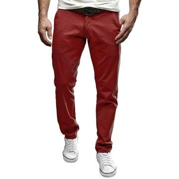 पुरुषों आरामदायक आरामदायक रंग खेल हरम पैंट जोगर फिट पतलून