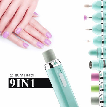 Buy 9 In 1 Electric Nail Drill Machine Set Replacement Handpiece Pen Manicure Pedicure Tool with Litecoins with Free Shipping on Gipsybee.com