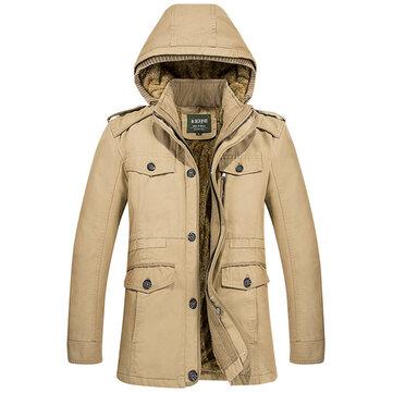 Áo khoác lông mùa đông ấm áp cho nam