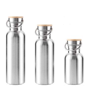 350ML 500ML 750ML Stainless Steel Vacuum Bottle Wide Mouth Drinking Water Sports Kettle BPA Free