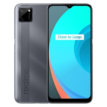 Realme C11 India Version 6.5 inch 5000mAh Android 10 3-Card Slot 13MP AI Dual Camera 2GB 32GB Helio G35 4G Smartphone
