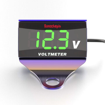 12-150V LED Display Digital Voltmeter Voltage Gauge Panel Meter With Bracket For Motorcycle Scooter Car