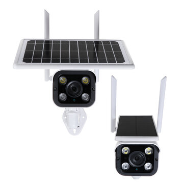 Buy HD 4G Security Network WiFi Intelligent Camera Outdoor Household Solar Wireless Monitor Camera with 7 on Gipsybee.com