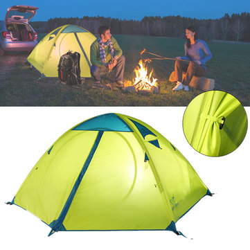 Trackman TM1218 Outdoor 2 Person Camping Tent Double Layers 82.6x55x43.3inch 3 Season Hiking Tents
