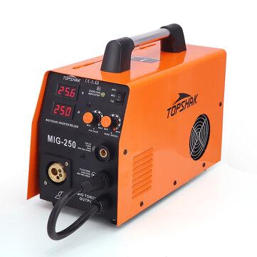 Topshak MIG 250 40 250A MIG ARC TIG 3 in 1 Welder Welding Machine 220V Welding Machine 0.6 1.0mm Flux Core with MIG Torch