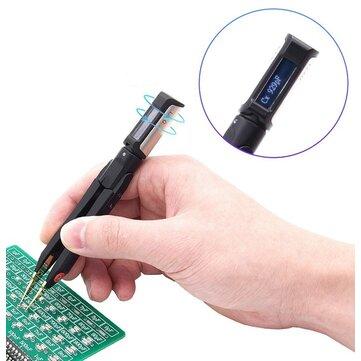 DT71 Digital Tweezers Smart SMD Tester Portable LCR Meter Diode Resistor Capacitor Multimeter Frequency Signal Generator
