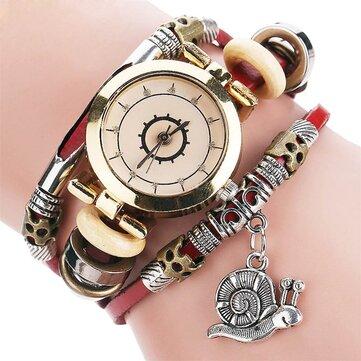 Oryginalny styl retro mieszkaniowe panie sukienka Diamond Dial skórzany pasek kobiet zegarek kwarcowy