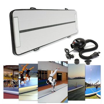 118x35x4inch Inflatable GYM Air Track Mat Airtrack Gymnastics Mat Floor Home Gym Tumbling Mat With Pump
