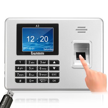 Danmini 2.8inch TFT Biometric Fingerprint Password Access Attendance Time Clock