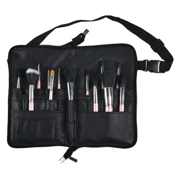 Pro 28 Pocket Makeup Brushes Bag Pu