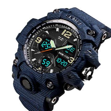 Đồng hồ nam SKMEI 1155B Ngụy trang chống nước đa chức năng ngoài trời Đồng hồ đôi kỹ thuật số