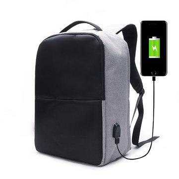 Ekphero Men Анти Theft Backpack Водонепроницаемы Travel Сумка с USB-портом для зарядки