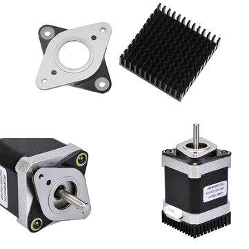 53.8*53.8mm NEMA17 Stepper Motor Vibration Shock Absorber Damper with Black Heat Sink for 3D Printer CNC Part