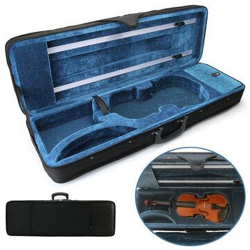 Violin Case Full Size 4/4 Professional Oblong Shape Cushioning Carry Box