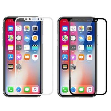 Glass-M 3D buet kant eksplosjonsbeskyttet anti fingeravtrykk temperert glass beskyttelsesfilm til iPhone XS / X