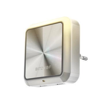 BlitzWolf® BW-LT14 प्लग-इन स्मार्ट लाइट सेंसर एलईडी नाइट लाइट के साथ दोहरी USB चार्जिंग सॉकेट के साथ