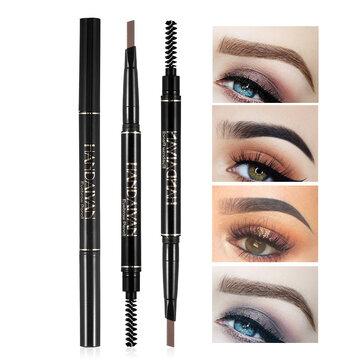 5 färger dubbel huvud ögonbryn penna ögonbryn borste ögonbryn penna makeup långvarig vattentät