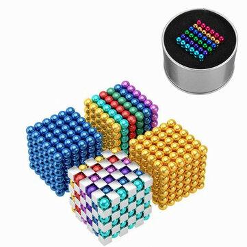 216 CÁI 5mm Cube Buck Ball Mixcolour Đồ chơi từ tính Neodymium N35 Magnet