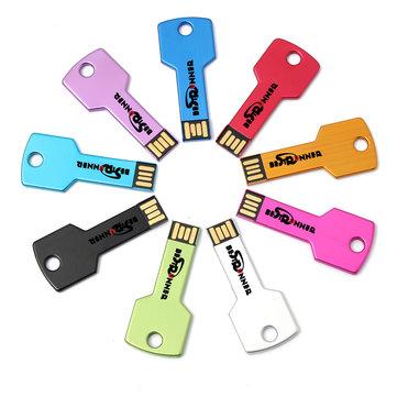 Bestrunner 16GB ไดรฟ์คีย์โลหะ USB แฟลชไดรฟ์หน่วยความจำออกแบบ Thumb