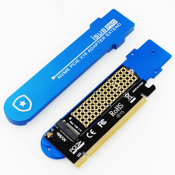 JEYI M.2 NVME Hard Drive Cooling Box Submarine NVME Adapter Card PCIE X16 GEN3 Card For PC
