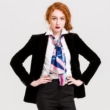Sciarpe di seta da donna, foulard di seta, stampa grafica, fazzoletto da collo, sciarpa Capelli, foulard, foulard, foulard, cravatte femminili