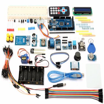 Mega 2560 Starter Learning Kit With 1602 LCD RFID Relay Motor Buzzer For Arduino