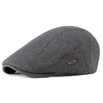Men Visor Knit Newsboy Beret Caps Outdoor Casual Winter Cabbie Ivy Flat Hat