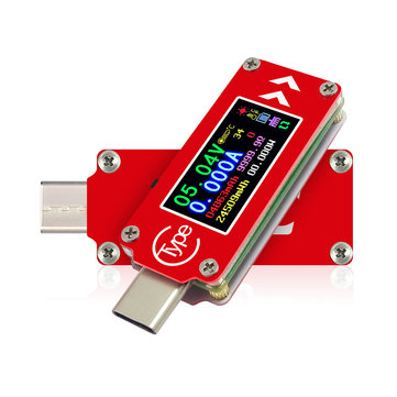 RIDEN® TC64 Color Screen PD Fast Charge Fast Test Type-C Voltage Ammeter Capacity Temperature Measurement Tester