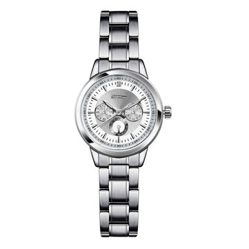 SINOBI 9285 Elegant  Women Wrist Watch Silver Case Stainless Steel Strap Quartz Watches