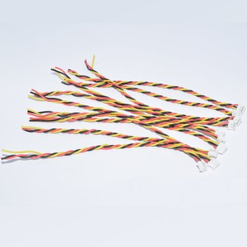 10PCS JST-SH1.5mm 3Pin Plug Cable Wire 10cm For FPV Racing Drone Camera