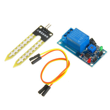 DC 12V Relay Controller Soil Moisture Humidity Sensor Module Automatically Watering for Arduino