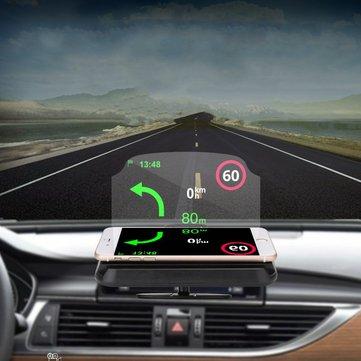 2 in 1 HUD Head Up Display Navigation Car GPS Phone Mount ...