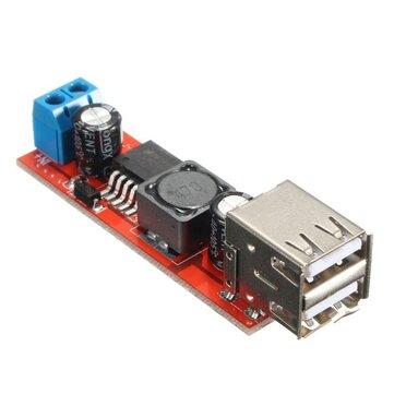 Dual USB 9V/12V/24V/36V to 5V Converter DC-DC 3A Step Down Power Module