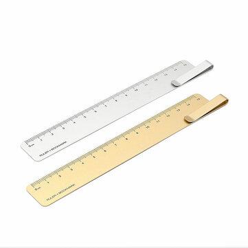 Xiaomi RUMA Bookmark Ferramenta de Medição 15 cm de Metal Em Aço Inoxidável Régua Escola Escritório