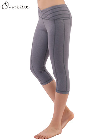 S-5XL Casual Women Slim Stretch Sport Yoga Cropped Pants