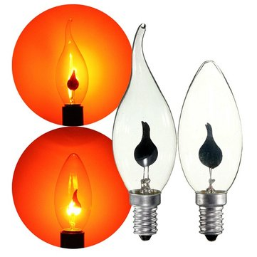 Lot RED E14 3W Retro Chandelier Fire Candle Light Flame Edison Bulb Lamp AC220V