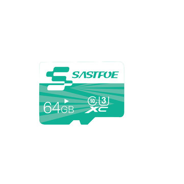 SASTFOE Green Edition 64GB U3 Classe 10 TF Micro Cartão de Memória para Câmera Digital MP3 TV Caixa Smartphone