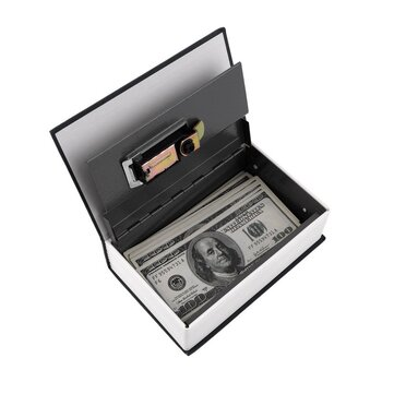 Hot Steel Simulation Dictionary Secret Book Safe Money Box Case Money Jewelry Storage Box Security Key Lock