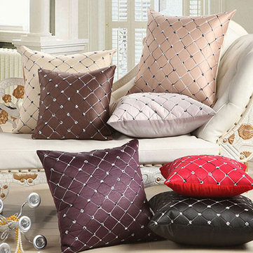 Home Sofa Bed Decor Multicolored Plaids Throw Pillow Case Square Cushion Cover for Sofa Bed