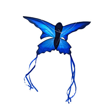 70x150cm Blue Beautiful Butterfly Kite Outdoor Fun Sports Flying Toy With 30M Control Bar and Line