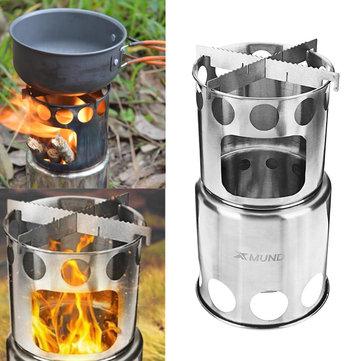 Xmund XD-ST3 Bếp nấu di động Bếp bằng thép không gỉ di động để đi du lịch bụi