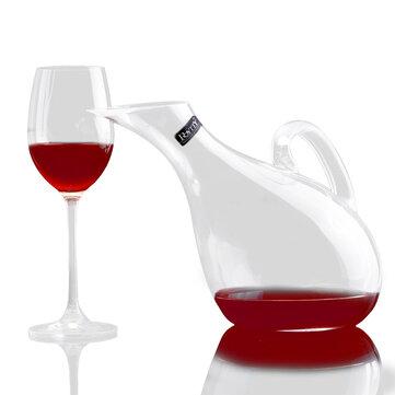 Swan copa de vino de cristal vino decantador soplado artificial manual de corte en frío sin plomo botella de vino de cristal vertedor 1200 ml Swan estilo forma de arpa jarra de vino transparente